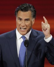 Sen. John McCain's former rival for the Republican presidential nomination, former Massachusetts Gov. Mitt Romney, spoke Wednesday night at the Republican National Convention in St. Paul, Minn.