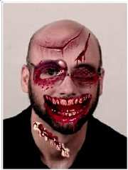 Jon Niccum tries out the Zombie Face Changer.