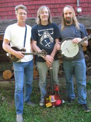 Split Lip Rayfield (l to r) is Wayne Gottstine, Jeff Eaton, and Eric Mardis