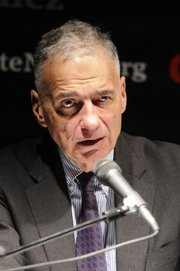 Ralph Nader speaks to about 400 people who attended Thursday's rally.