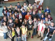 Several Free State High School students got their first chance to vote on Tuesday. Those first-time voters gathered for a group photo.
