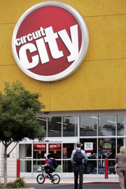 The exterior of the Circuit City store in East Palo Alto, Calif., is shown. Circuit City Stores Inc., the Richmond, Va.-based company said Monday that it will shutter 155 of its more than 700 stores in 12 markets by Dec. 31, laying off thousands of employees.