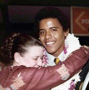 Dunham and Obama in 1979