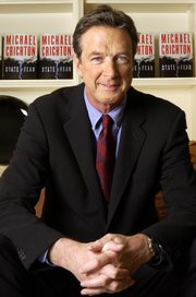 Author Michael Crichton is seen at The Peninsula Hotel in New York in this Dec. 7, 2004, file photo. Crichton died Tuesday in Los Angeles at age 66. He had been privately battling cancer, according to his family.