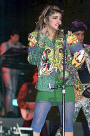 "Madonna was the lead trend-setter in 1980s fashions. Other icons include Olivia Newton-John (from her ""Physical"" stage) and Molly Ringwald."