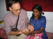 The Rev. Peter Luckey also was able to meet Saranya, an orphan his family has been sponsoring for 13 years.