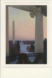 The 2008 White House holiday card, produced in Lawrence by Hallmark Cards Inc. with art by T. Allen Lawson.