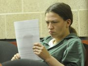 Barbara Jo Schnegelsiepen, 27, Topeka, made her first court appearance on Wednesday, Dec. 3, 2008, via video from the Douglas County Jail, where she is being held on $350,000 bail. Schnegelsiepen faces 11 charges in connection with two residential burglaries Tuesday morning in Lawrence that were followed by a lengthy high-speed chase that extended into rural areas west of town. A Lawrence police officer was injured when he was struck by the fleeing vehicle.