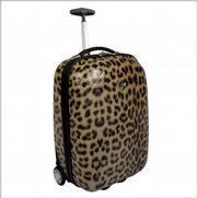 An X-Case Exotic Carry-On in Leopard. It's one of the products rated by Lawrence-based Coolproducts.com, which is going through its first holiday season of combining online shopping and social networking.