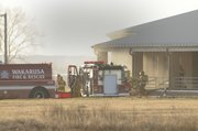 Several area township fire departments were summoned to the the new Eudora United Methodist Church the afternoon of Nov. 24. A fire ruined most of the sanctuary and caused smoke damage throughout the rest of the site, where construction had recently been completed.