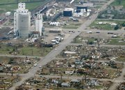 Tornado damage is seen in Greensburg in this May 5, 2007, file photo. Most of the southwest Kansas town was destroyed by a tornado that hit the previous night. A new study has found that more tornadoes were part of that outbreak than originally thought, and that some were unusually strong.