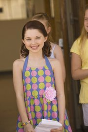 "Actress Sammi Hanrattyas ""Chrissa,"" is shown in this undated photo during a scene from ""An American Girl: Chrissa Stands Strong"".  Hanratty, who has appeared on TV's ""Pushing Daisies"" and ""The Suite Life of Zac and Cody,"" brings Chrissa to life on screen in the first American Girl film based on a contemporary character."