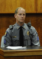 Lawrence Police Sgt. Craig Shanks talks about the pursuit of Barbara Jo Schnegelsiepen on December 2, 2008.