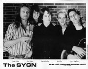 Iain Ellis, second from right, played in '80s bands such as The Sygn before pursuing a career in rock journalism.