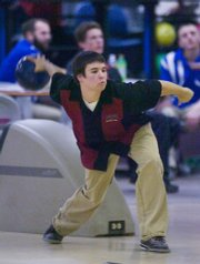 Junior Ben Wyatt has been one of the strong players for LHS. Lawrence High School bowling team hosted a varsity tri meet at Roayl Crest Lanes Thursday with Oskaloosa and Leavenworth.