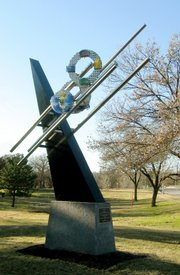 """Pierced Sky"" is a new sculpture in Overland Park by Baldwin City artist Matt Kirby."