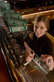 Erica Krause is a server and bartender at 23rd St. Brewery, 3512 Clinton Parkway. She says she can get frustrated with impatient customers and those who cross the line when it comes to flirting.