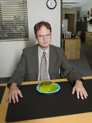 "Rainn Wilson  and Angela Kinsey co-star as Dwight and Angela, a star-crossed couple on NBC's ""The Office"" — if by star-crossed one means the U-turn the relationship took when Dwight euthanized Angela's cat Sprinkles. Among the dangers of workplace romances is figuring out how to maintain a professional relationship when the fun ends."