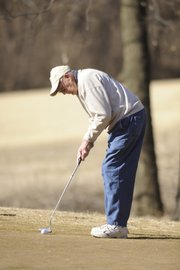 A 97th birthday didn't stop Lawrence resident George Corn from continuing to play golf. In fact, Corn sank this putt for birdie on Feb. 4 at the Orchards Golf Course.