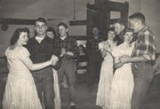 Raymond Flory, second from left, takes to the floor with other square dancers from the Lone Star 4-H Club in 1948. Flory was a charter member of the club.