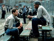 "Tim Robbins and Morgan Freeman in the unlikely buddy movie ""The Shawshank Redemption"": ""I understand you're a man who knows how to get things."""
