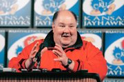 Kansas Jayhawks football coach Mark Mangino.