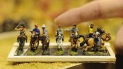 The Lawrence Wargame Club is conducting its Spring Maneuvers conference at the Econo Lodge at 2222 W. Sixth St. This group of miniatures is part of a Civil War Battle.