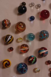 Marbles manufactured by Moon Marble Company are pictured. The Bonner Springs company  has been named one of the 8 Wonders of Kansas Commerce.