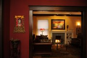 Jennifer Lutz has incorporated antiques and soft lighting in her home.