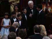 "Young cast members from ""Slumdog Millionaire"" join the red carpet at the 81st annual Academy Awards, which were Feb. 22 in Los Angeles."