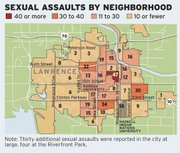 Despite being nearby, some neighborhoods have significantly more sexual assaults than others.