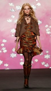 A look from Anna Sui's collection for New York Fashion Week.