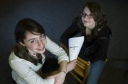 Rosie O'Brien, left, and Emily Reno will be spend their spring break working on an independent film project.