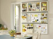 The Pottery Barn's Daily System keeps family members organized.