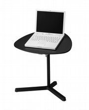 The Dave laptop table by IKEA offers a handy work surface.