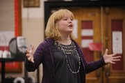 Chloe O'Dell, 11, Lawrence, sang up a storm on Saturday at the Regional 4-H Day.