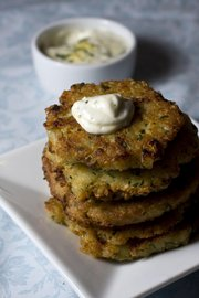 Quinoa Fritters with Lemon-horseradish Mayonnaise