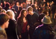 "Kat Dennings,  left, and Michael Cera are shown in a scene from ""Nick and Norah's Infinite Playlist."""
