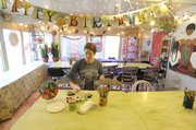 Cheryl Roth, owner of Sunfire Ceramics, 1002 N.H., opened a special room at her store for birthday parties. The only charge is for pottery and paints, which are offered at a discount.