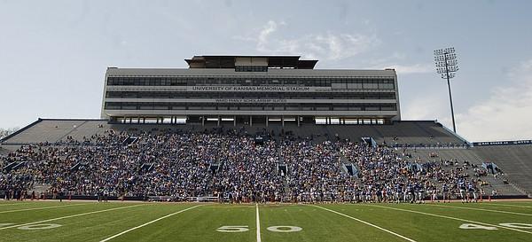 Saturday's Spring Game crowd at Memorial Stadium.