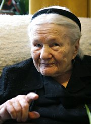 Holocaust hero Irena Sendler is seen in her home in Warsaw, Poland. She died May 12, 2008. In 2007 she was a runner-up for the Nobel Peace Prize.