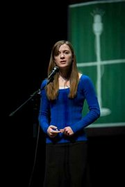 Madeline Roger competed last year at the national Poetry Out Loud contest in Washington, D.C. She is the back-to-back Kansas competition winner.