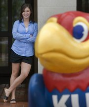 In one year, Erin Robinson went from being a senior Free State High School Firebird to a freshman Jayhawk. After some initial loneliness, she joined a sorority and won a seat on Kansas University's Student Senate.