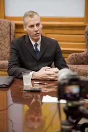 Gov.  Mark Parkinson has shown bipartisan appeal in his first days in office. Former lieutenant governor Parkinson was elevated to the governor's position when Kathleen Sebelius was confirmed as secretary of the U.S. Department of Health and Human Services.