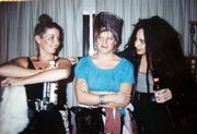 The Sin Sisters earned their nickname during a Halloween night in 1990. From left, Tanya Haller McNeely, Jackie Denning and Nicki Geist.