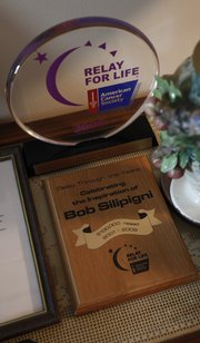 Awards presented to Silipigni from the American Cancer Society