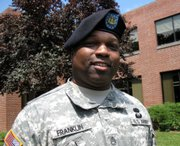 "Sgt. 1st Class Aljournal ""A.J."" Franklin, pictured in Fort Leavenworth, is a noncommissioned officer who administers the military post's mental health facility. He provides counseling to five men awaiting execution and about 425 other inmates with life or long-term sentences."