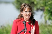 Alaska Gov. Sarah Palin announces that she is stepping down from her position as governor at her Lake Lucille home Friday.