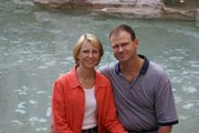 """""""Dea"""" and Joe Lieber, on vacation in Italy."""