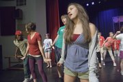 "Lawrence Community Theatre's Youth Ensemble rehearses for its upcoming production of ""High School Musical"" at Lawrence High School."